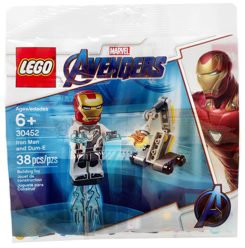 LEGO Marvel Avengers Iron Man & Dum-E Mini Set #30452 [Bagged]