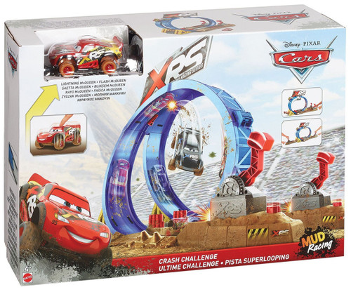 Disney / Pixar Cars Cars 3 XRS Mud Racing Crash Callenge Playset