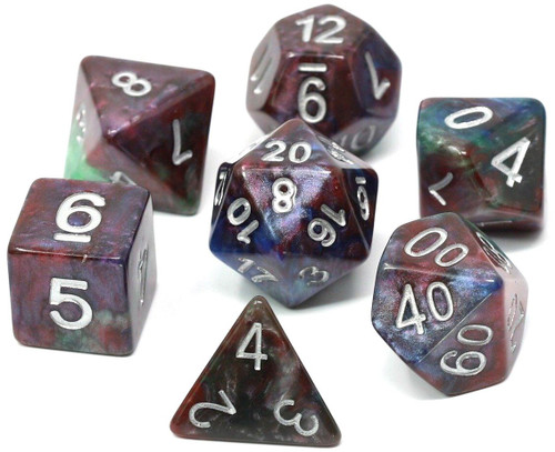 RPG Tropical Storm Polyhedral 7-Die Dice Set (Pre-Order ships February)