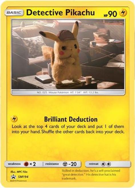 Pokemon Sun & Moon Detective Pikachu Promo Ultra Rare Detective Pikachu SM194