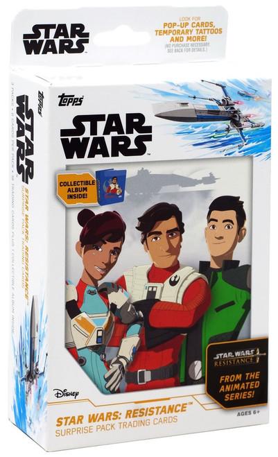 Topps Star Wars: Resistance Surprise Pack Trading Card HANGER Box [3 Packs]