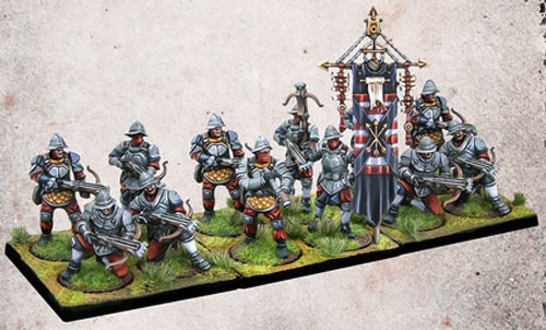 Conquest: The Last Argument of Kings Hundred Kingdoms Mercenary Crossbowmen Miniature Game Set