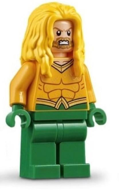 LEGO DC Universe Super Heroes Aquaman Minifigure [Long Yellow Hair Loose]