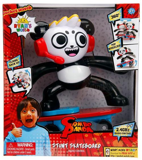 Pocket Watch Ryan's World Combo Panda Stunt Skateboard R/C Vehicle