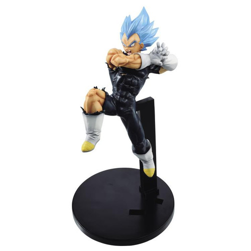 Dragon Ball Super: Broly Super Tag Fighters Super Siayan Blue Vegeta 6.7-Inch Collectible PVC Figure [Galick Gun]