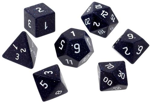Ultra Pro Gemstone Dice Blue Sandstone Polyhedral 7-Die Dice Set