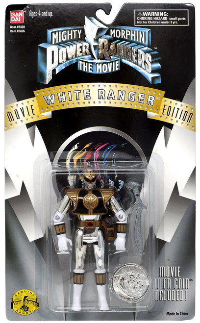 Power Rangers Mighty Morphin The Movie White Ranger Action Figure [With Movie Power Coin]