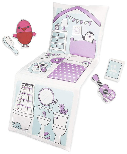 Sago Mini 2 in 1 Fold Up Robins Doll House Pillow Playset