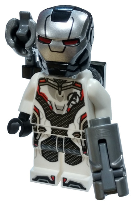 LEGO Marvel Super Heroes Avengers Endgame War Machine Minifigure [White Jumpsuit with Shooter Loose]