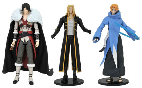 Castlevania Select Series 1 Trevor Belmont, Sypha Belnades & Alucard Set of 3 Action Figures