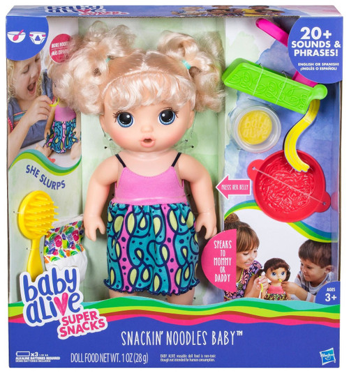 Baby Alive Super Snacks Snackin' Noodles Baby Doll