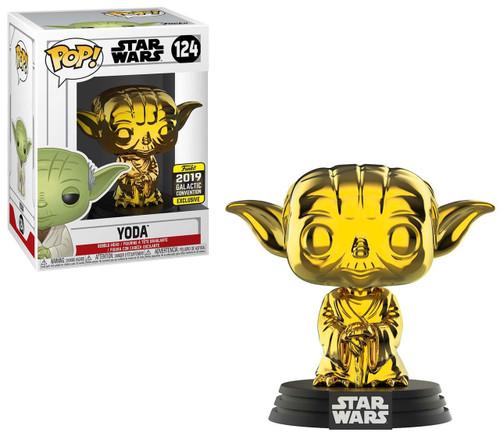 Funko POP! Star Wars Yoda Exclusive Vinyl Figure #124 [Gold Metallic]