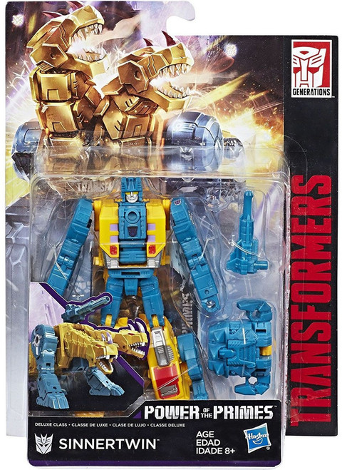 Transformers Generations Power of the Primes Terrorcon Sinnertwin Deluxe Action Figure [Damaged Package]