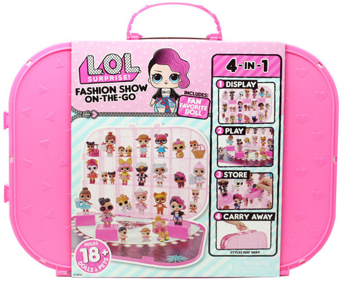 LOL Surprise Fashion Show On The Go HOT Pink Storage Carry Case [Includes 1 Doll!]
