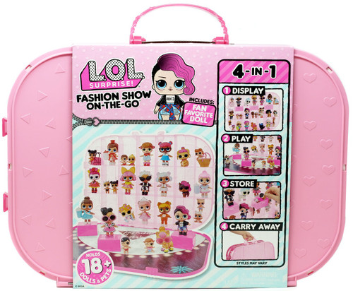 LOL Surprise Fashion Show On The Go LIGHT Pink Storage Carry Case [Includes 1 Doll!]