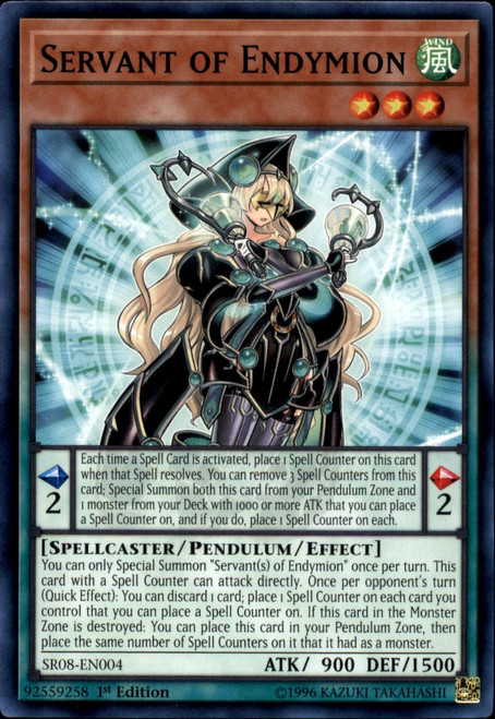 YuGiOh Structure Deck: Order of the Spellcasters Common Servant of Endymion SR08-EN004