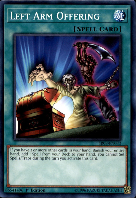 YuGiOh Structure Deck: Order of the Spellcasters Common Left Arm Offering SR08-EN033