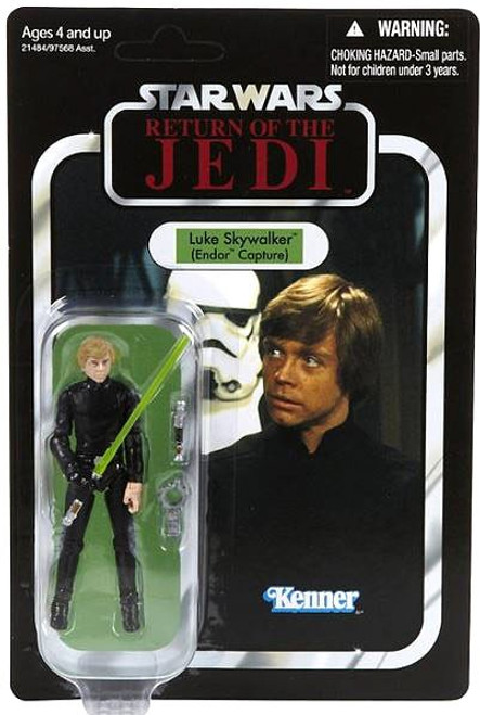 Star Wars Return of the Jedi Vintage Collection 2010 Luke Skywalker Action Figure #23 [Jedi Knight / Endor Capture, Damaged Package]