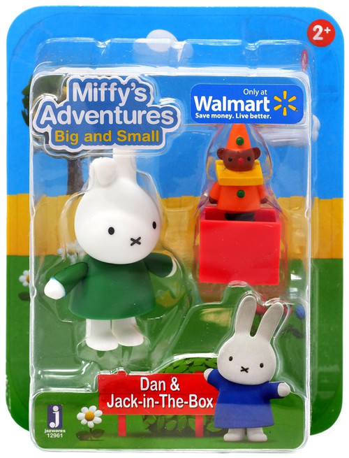 Miffy's Adventures Big & Small Dan & Jack-in-the-Box Exclusive Figure 2-Pack