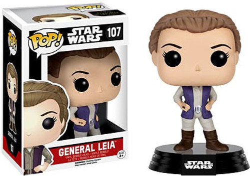 Funko The Force Awakens POP! Star Wars General Leia Vinyl Bobble Head #107 [EP7, Damaged Package]