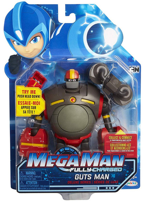 Mega Man Fully Charged Series 1 Guts Man Deluxe Action Figure