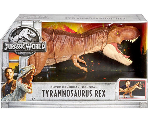 Jurassic World Fallen Kingdom Super Colossal Tyrannosaurus Rex Action Figure [Damaged Package]