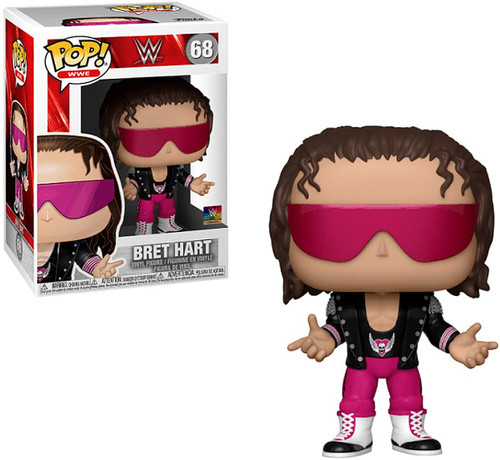 Funko WWE Wrestling POP! Sports Bret Hart Vinyl Figure #68 [with Jacket]