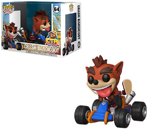 Funko Crash Team Racing POP! Rides Crash Bandicoot Vinyl Figure #64