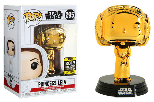 Funko POP! Star Wars Princess Leia Exclusive Vinyl Figure #295 [Gold]