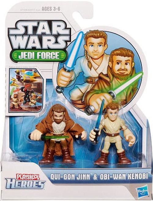 Star Wars Jedi Force Qui-Gon Jinn & Obi-Wan Kenobi Mini Figure 2-Pack