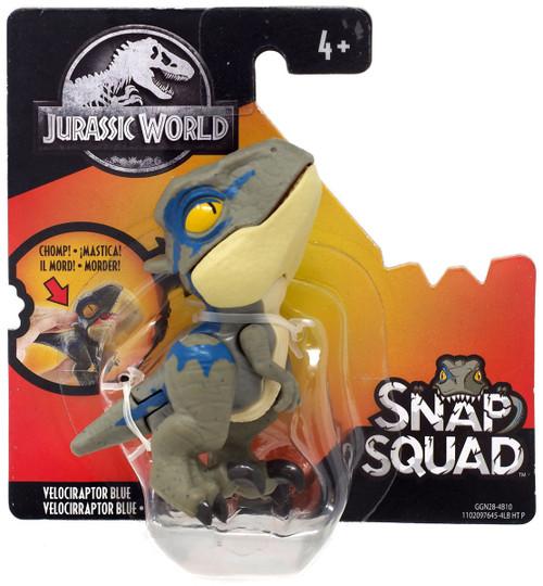 Jurassic World Snap Squad Velociraptor Blue Mini Figure