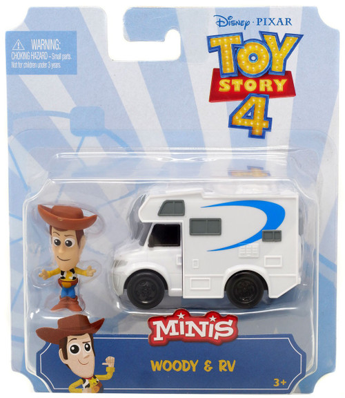 Disney / Pixar Toy Story 4 MINIS Woody & RV Mini Figure & Vehicle