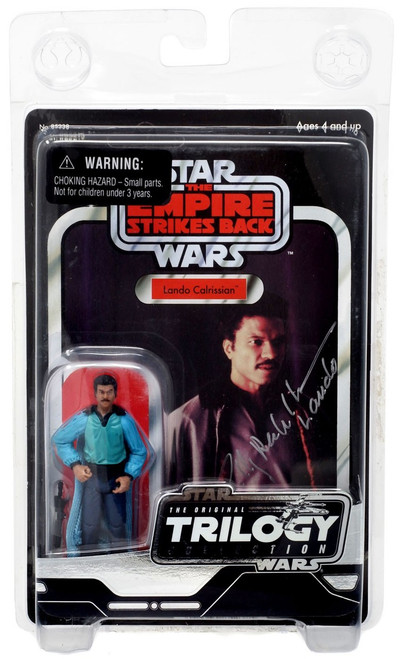 Star Wars The Empire Strikes Back 2004 Original Trilogy Collection Lando Calrissian Action Figure [Autographed by Billy Dee William]