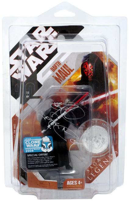 Star Wars Phantom Menace 2007 Saga Legends (30th Anniversary) Darth Maul Action Figure #2 [Autographed by Ray Park]