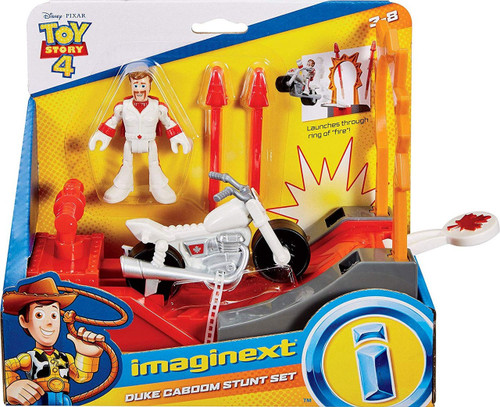 Fisher Price Disney / Pixar Imaginext Toy Story 4 Duke Caboom Stunt Set Figure Set