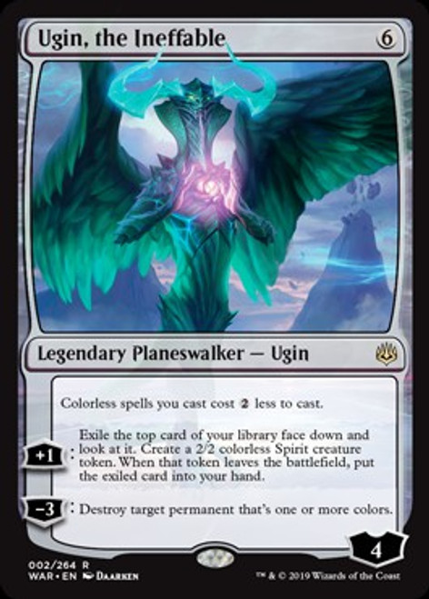 MtG War of the Spark Rare Ugin, the Ineffable #2