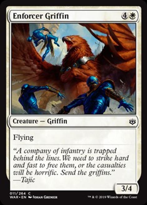 MtG War of the Spark Common Enforcer Griffin #11