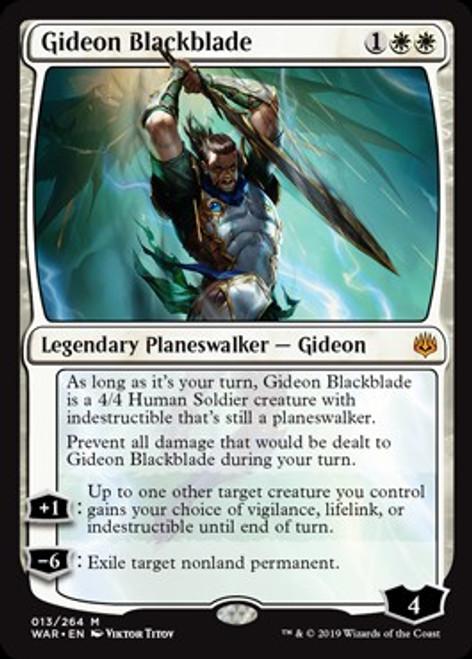 MtG War of the Spark Mythic Rare Gideon Blackblade #13