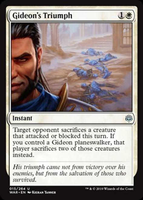 MtG War of the Spark Uncommon Gideon's Triumph #15