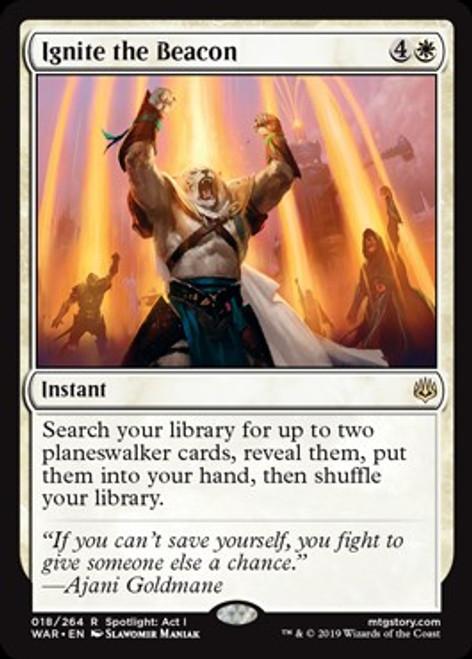 MtG War of the Spark Rare Ignite the Beacon #18