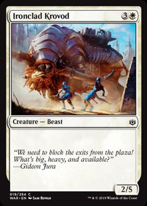 MtG War of the Spark Common Ironclad Krovod #19