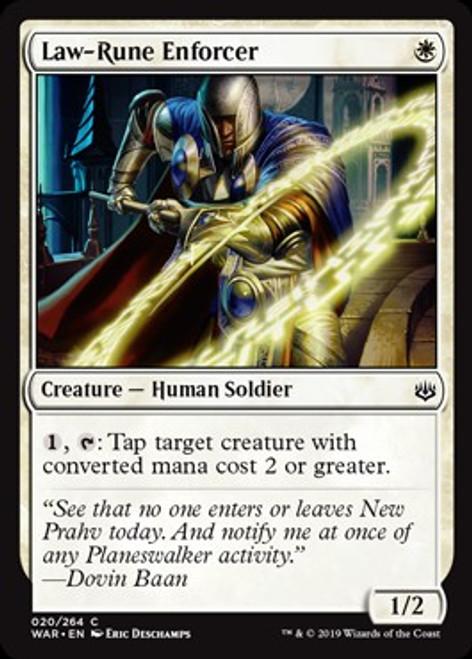 MtG War of the Spark Common Law-Rune Enforcer #20