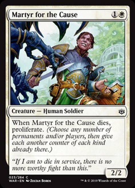 MtG War of the Spark Common Martyr for the Cause #23