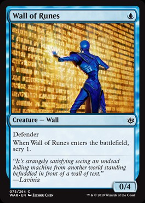 MtG War of the Spark Common Wall of Runes #75