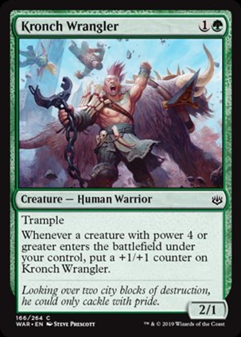 MtG War of the Spark Common Kronch Wrangler #166