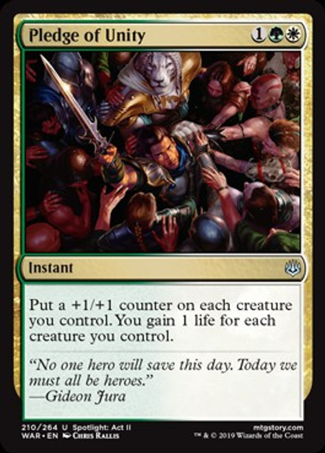 MtG War of the Spark Uncommon Pledge of Unity #210