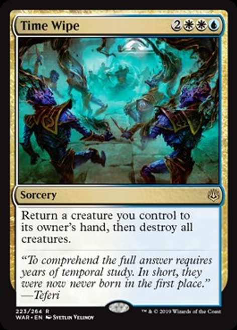 MtG War of the Spark Rare Time Wipe #223