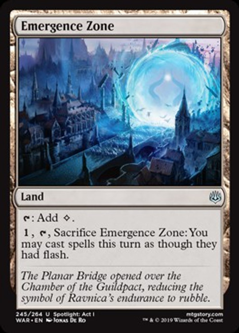 MtG War of the Spark Uncommon Emergence Zone #245