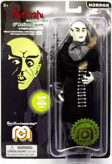 Horror Nosferatu Action Figure [Black Coat, Glow in the Dark]