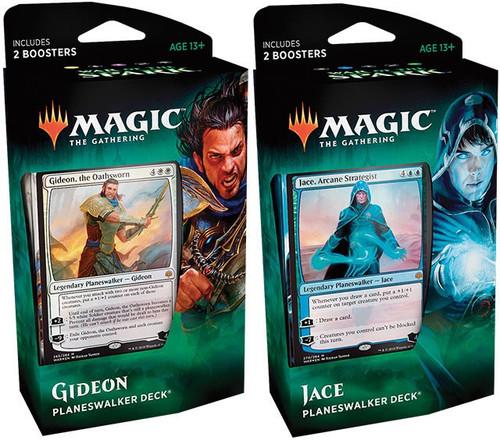 MtG Trading Card Game War of the Spark Jace & Gideon Set of Both Planeswalker Decks